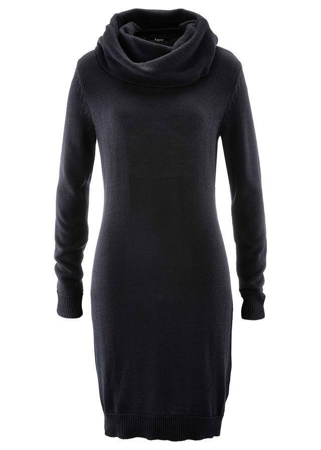 Garbó nyakú kötött ruha fekete Hossza a • 5499.0 Ft • bonprix c68236dd8f