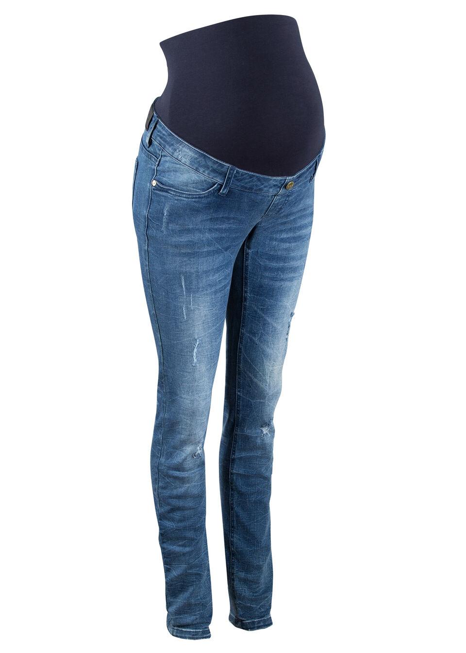 Jeans gravide skinny cu efecte destroyed bonprix