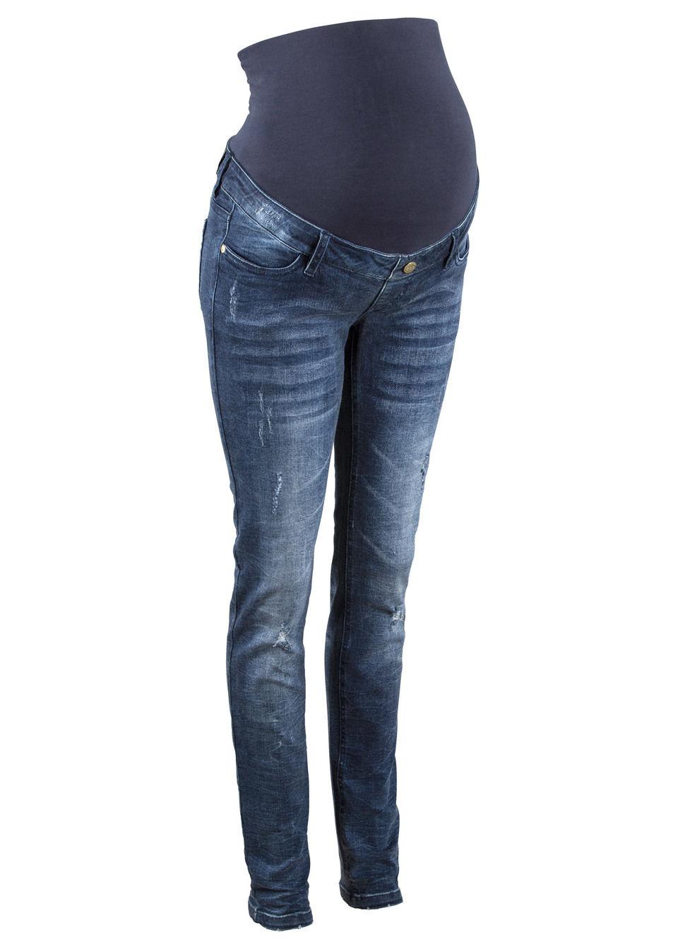 Для будущих мам: джинсы Skinny с умышленными повреждениями
