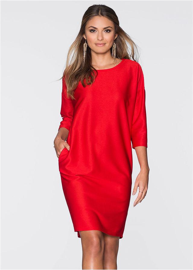 85a2a66cd9 Sukienka czerwony Prosty fason z • 59.99 zł • bonprix