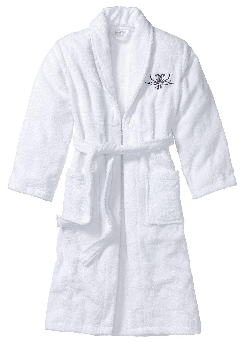 белый махровый халат купить