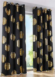 Draperie cu print lucios (1buc/pac)-bpc living bonprix collection