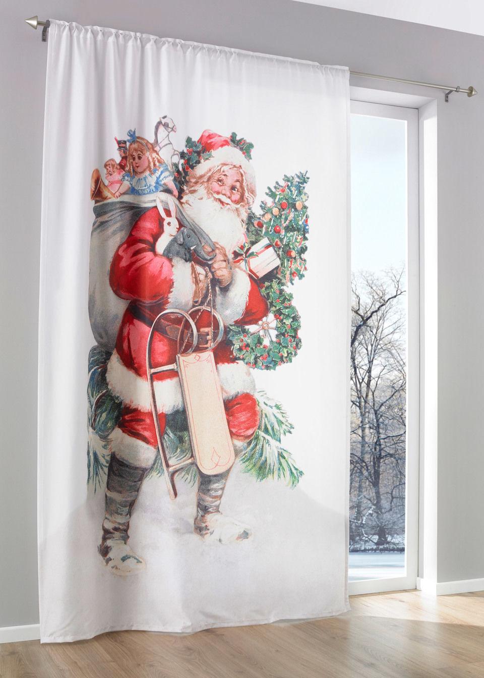 Штора «Дед Мороз» (1 шт.)