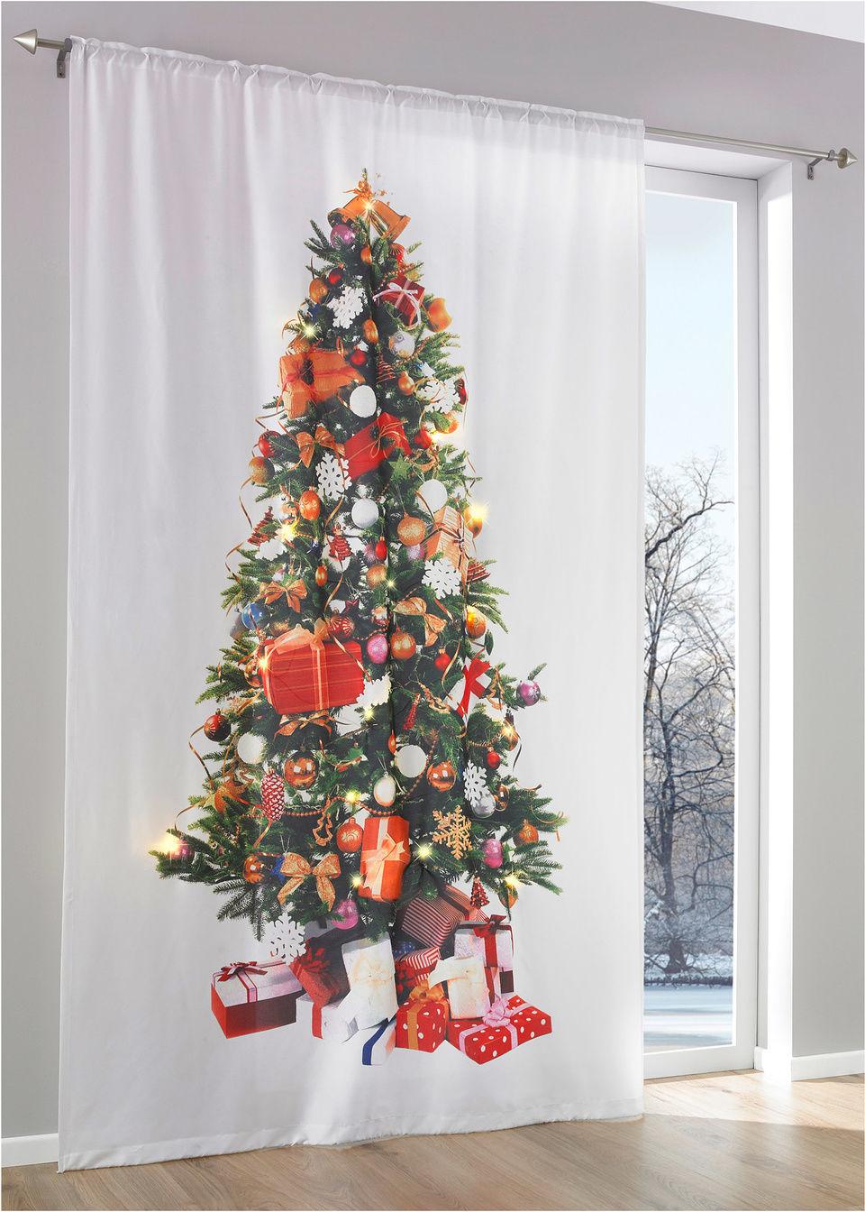 Штора со светодиодным освещением «Новогодняя елка» (1 шт.)