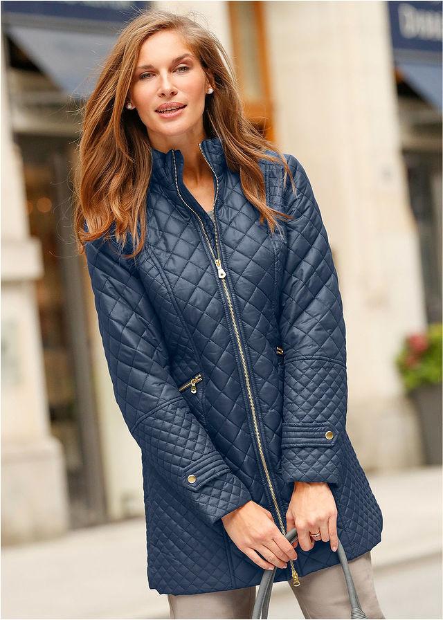 Prešívaný kabát tmavomodrá Elegantný • 34.99 € • bonprix b5d8e09a0d4