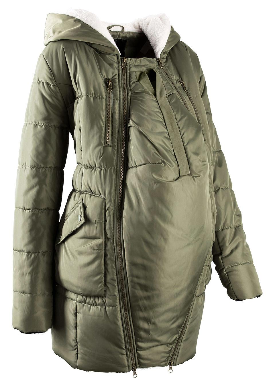 Купить Куртки и плащи, Куртка с подкладкой и карманом-вкладкой для малыша, bonprix, оливковый