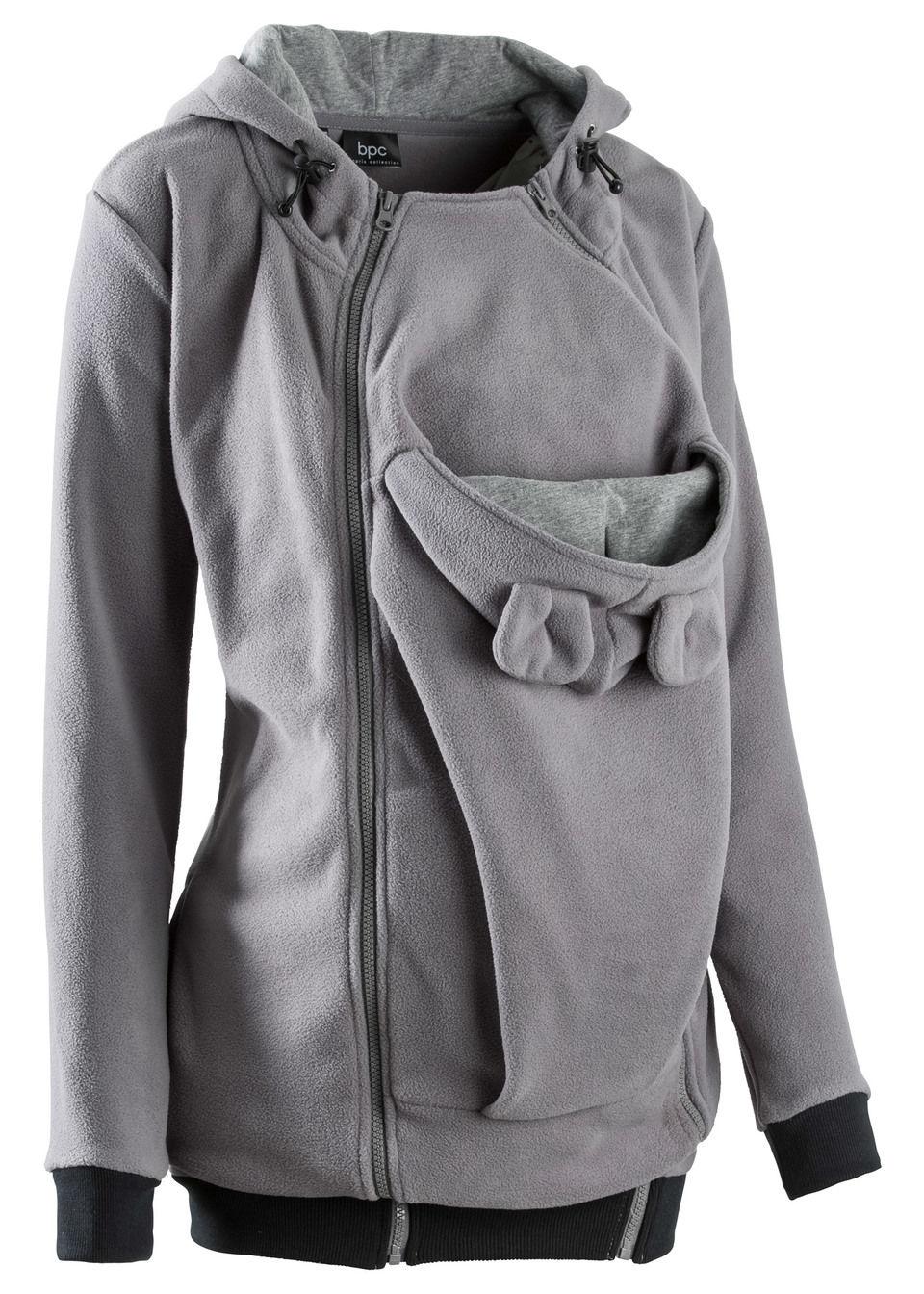 744c37bd8e Kismama polár kabát baba-betéttel a terhességre és utána füstszürke •  10499.0 Ft • bonprix