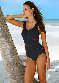 Costum baie modelator, nivel 1 negru bpc bonprix collection 1