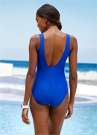 Costum de baie albastru regal/alb zebrat bpc bonprix collection 2