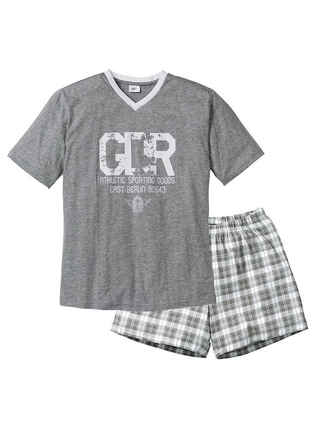 Krátke pyžamo sivá melírovaná biela • 9.99 € • bonprix 69c7ef0bde6