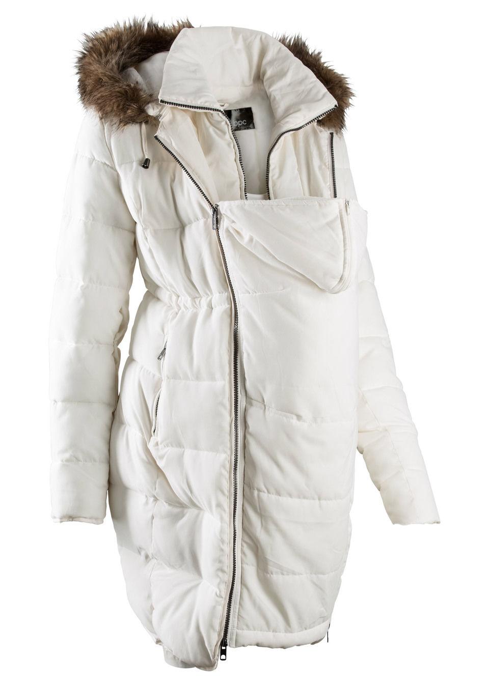 Купить Куртки и плащи, Куртка с карманом-вкладкой для малыша, bonprix, цвет белой шерсти