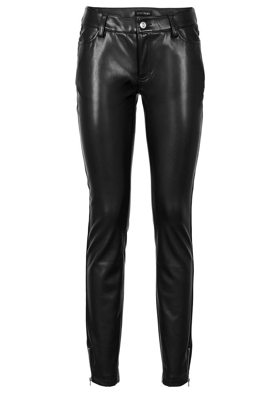 79078b76cca8 Koženkové nohavice červená Tieto štýlové • 24.99 € • bonprix
