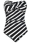 Costum baie shape, nivel 1 negru/alb dungat bpc selection 4