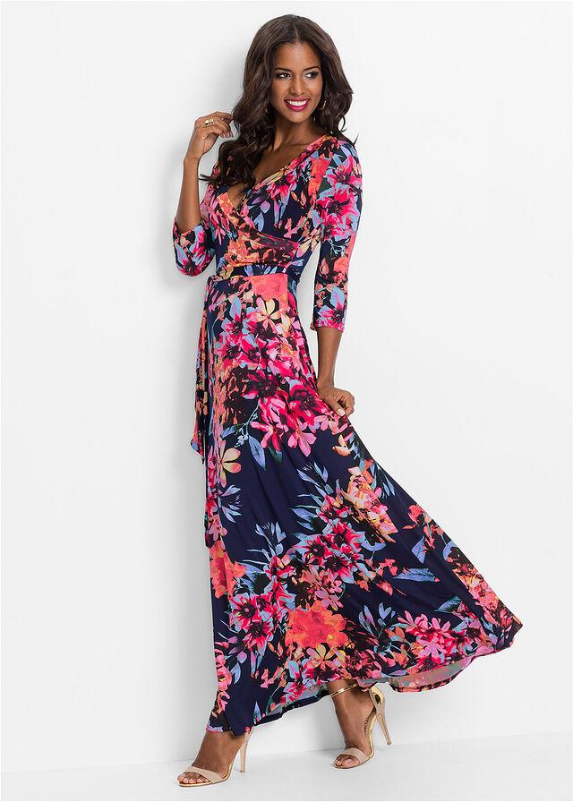 8cbed16a1b Sukienka niebiesko-jasnoróżowy w kwiaty • 149.99 zł • bonprix