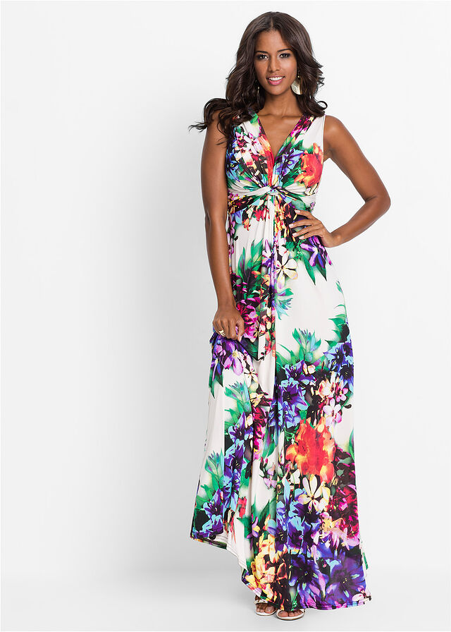f18f62f8b6 Sukienka letnia biały w kwiaty Piękna • 149.99 zł • bonprix