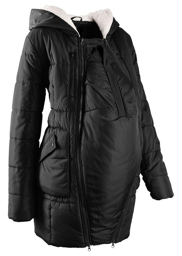 Bélelt kismama kabát baba-betéttel fekete • 16999.0 Ft • bonprix 507b354db5