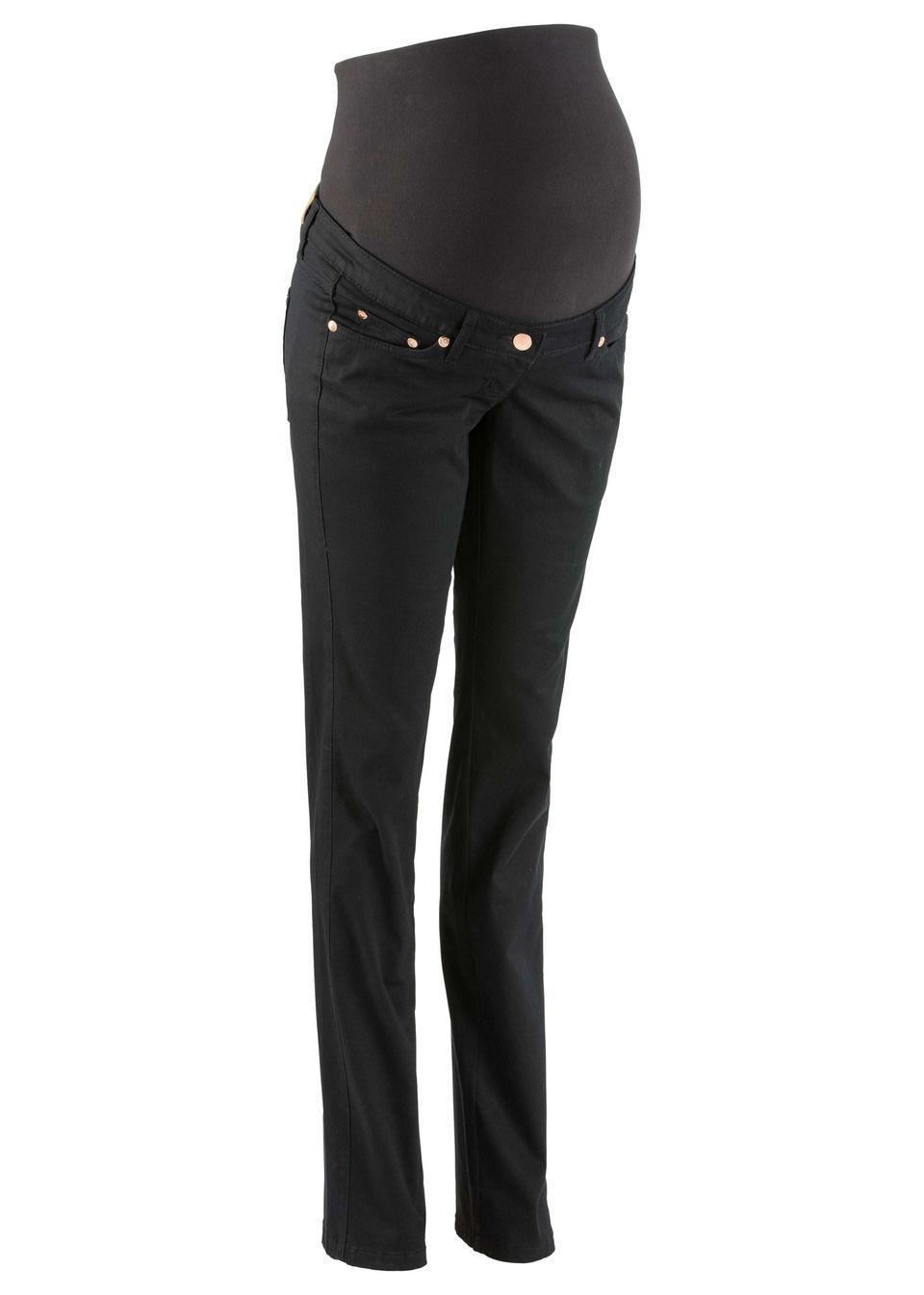 Купить Для будущих мам: стройнящие брюки с прямыми брючинами, bonprix, черный