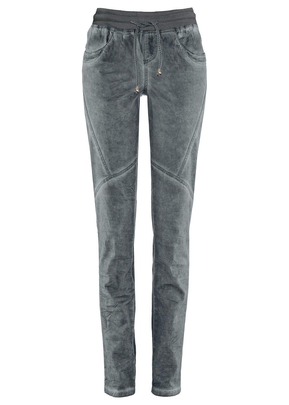 Хлопковые брюки с «потертыми» эффектами