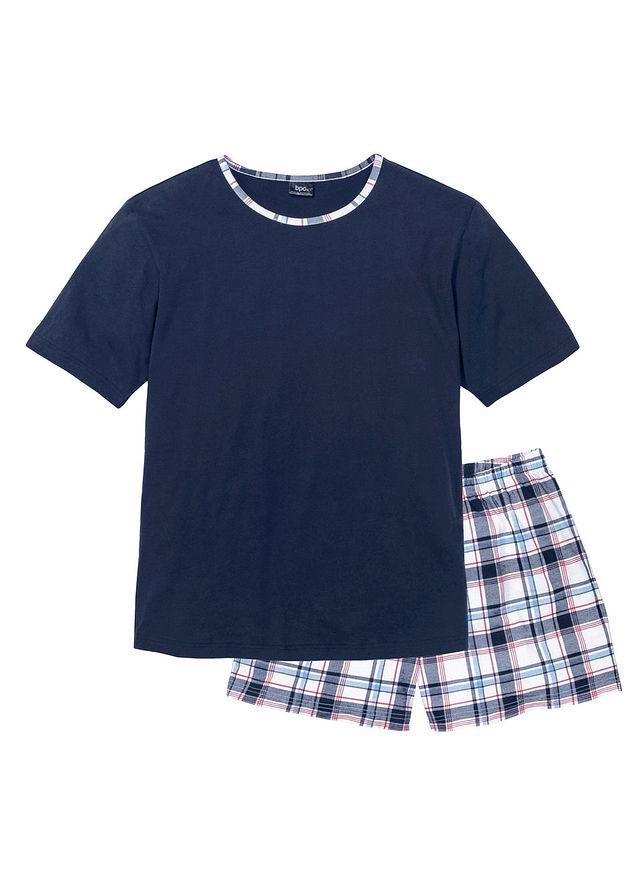 Rövidnadrágos pizsama sötétkék kockás • 3499.0 Ft • bonprix 6730f30169