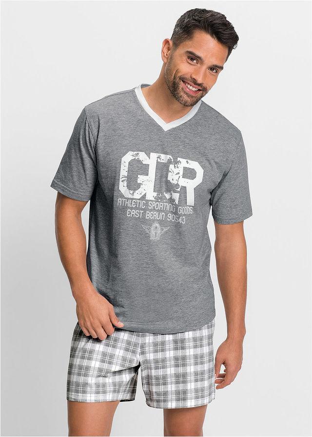 Rövidnadrágos pizsama • szürke melírozott fehér • bonprix áruház. 3 499Ft 3331104f47