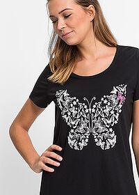 1c669f3ec9ee Nočná košeľa čierna potlačená S malým • 7.99 € • bonprix