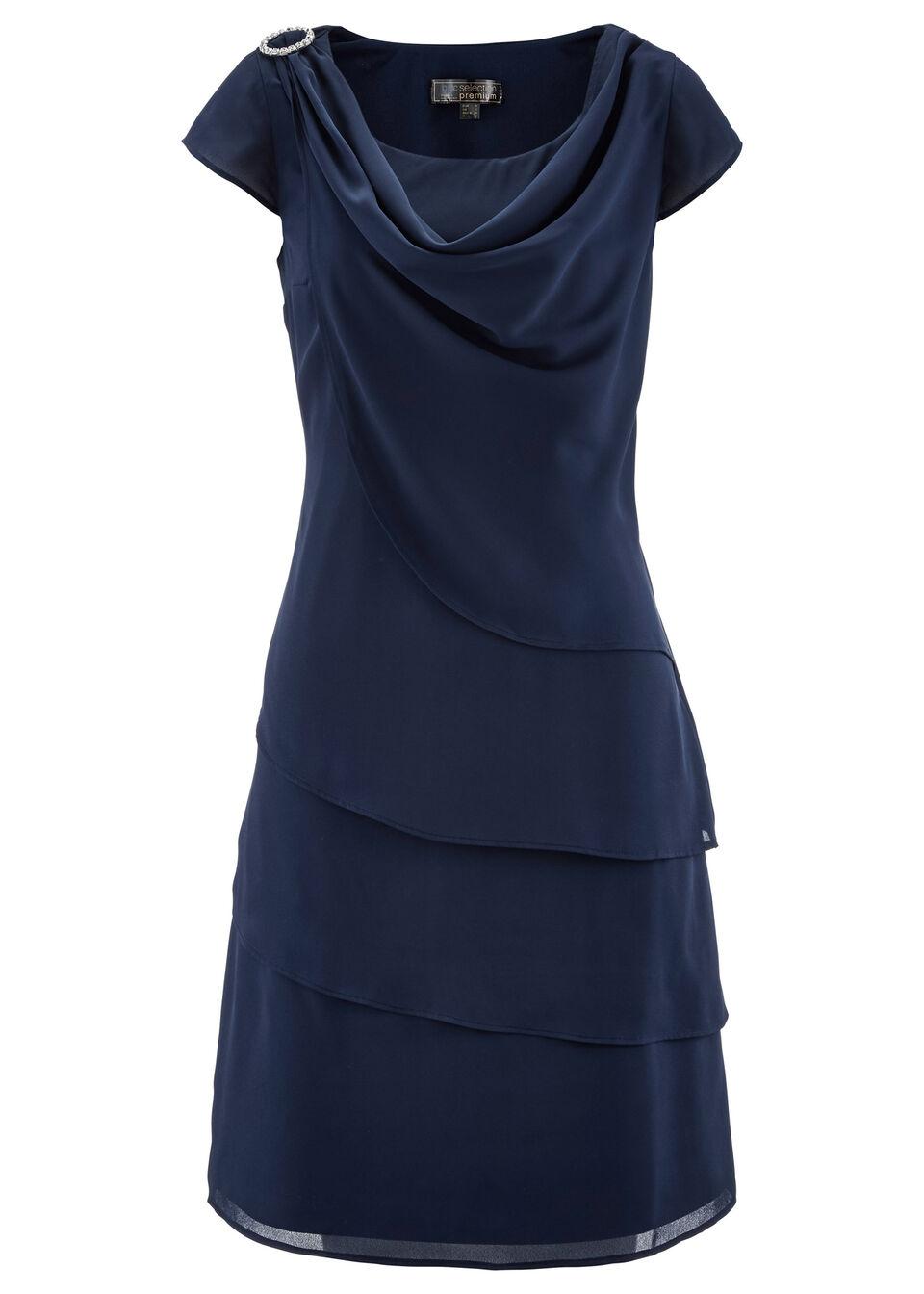 72cc39eca0 Sifon ruha réteges hatással sötétkék • 11999.0 Ft • bonprix