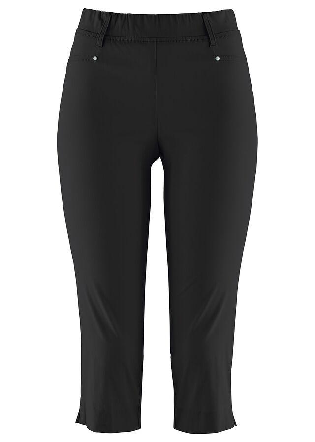 833220a725 Sztreccs capri nadrág elasztikus derékpánttal fekete • 5499.0 Ft • bonprix