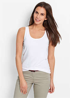 Tank top ze stretchem (2 szt. w opak.)-bpc bonprix collection