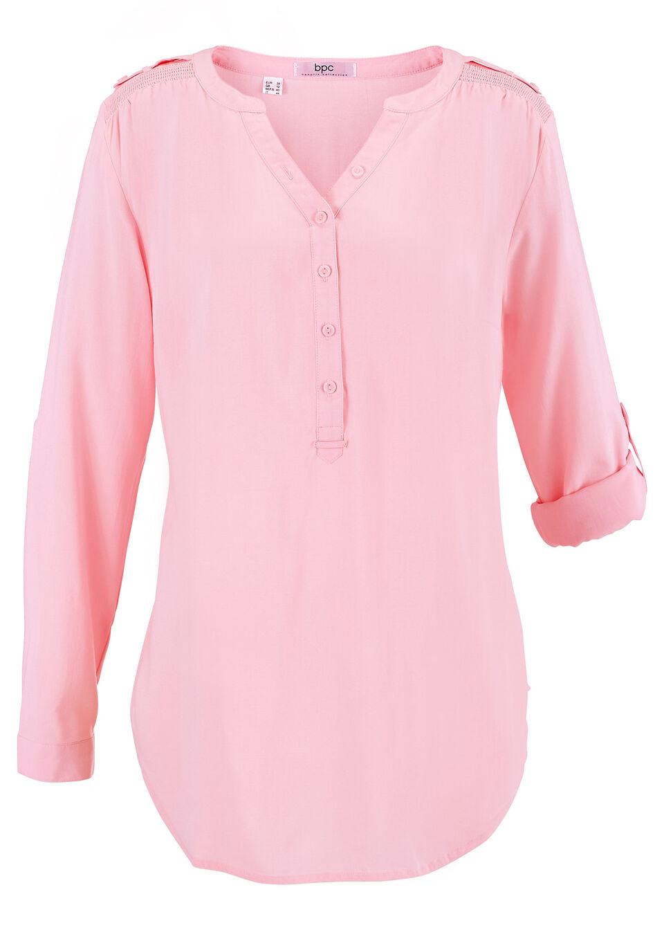 Купить Туника с длинным рукавом, bonprix, розовая пудра