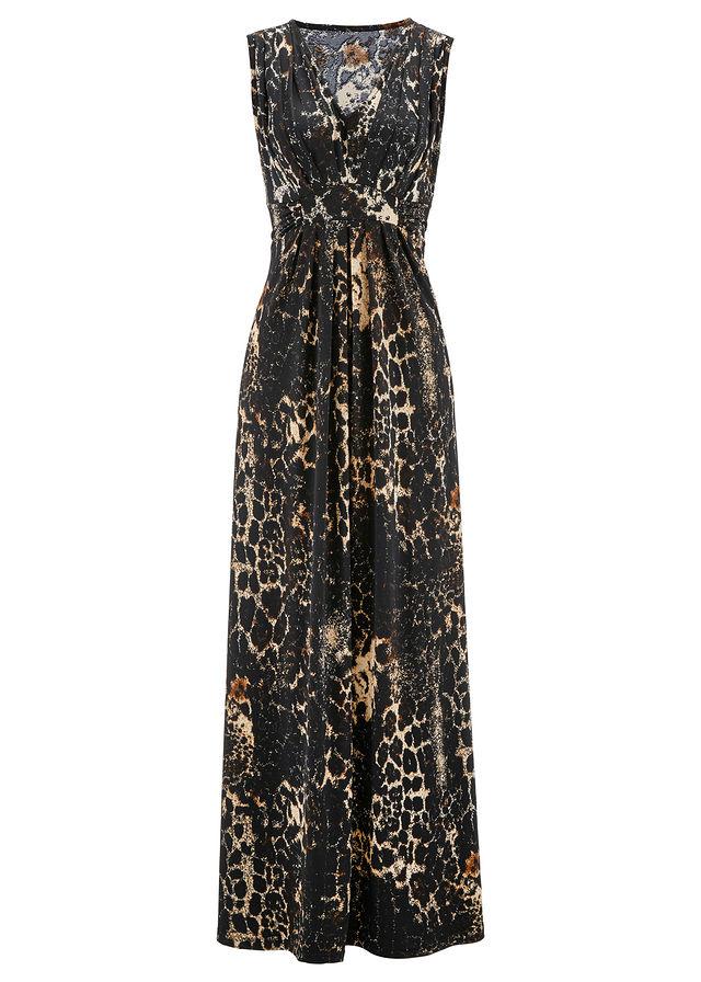 c4626b3819 Sukienka shirtowa z nadrukiem brązowy z nadrukiem • 129.99 zł • bonprix