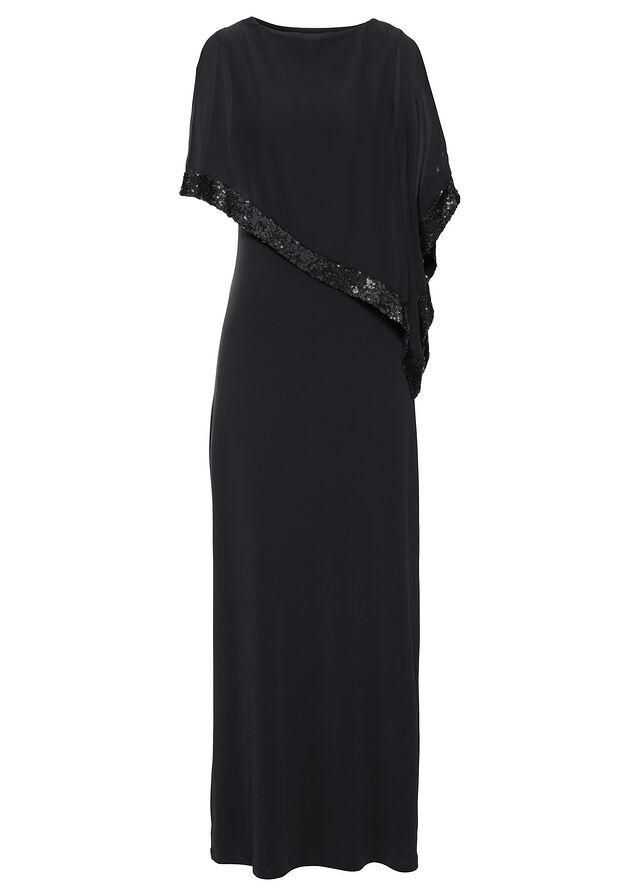 092a740fb1 Sukienka z cekinami czarny Piękna • 189.99 zł • bonprix
