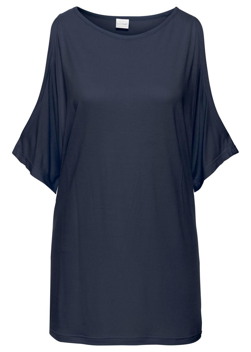 Shirt z wycięciami bonprix ciemnoniebieski bonprix