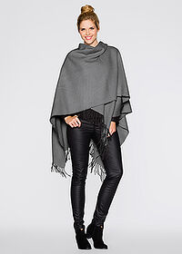 Poncho szary bpc bonprix collection 1