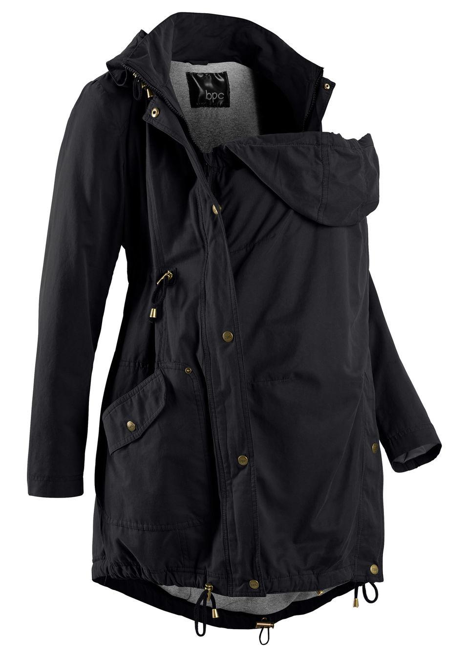 Для будущих мам: куртка-парка со вставкой для малыша и трикотажной подкладкой