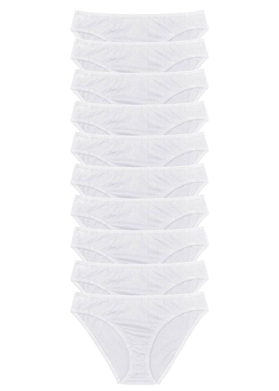 Figi (10 par) bonprix biały