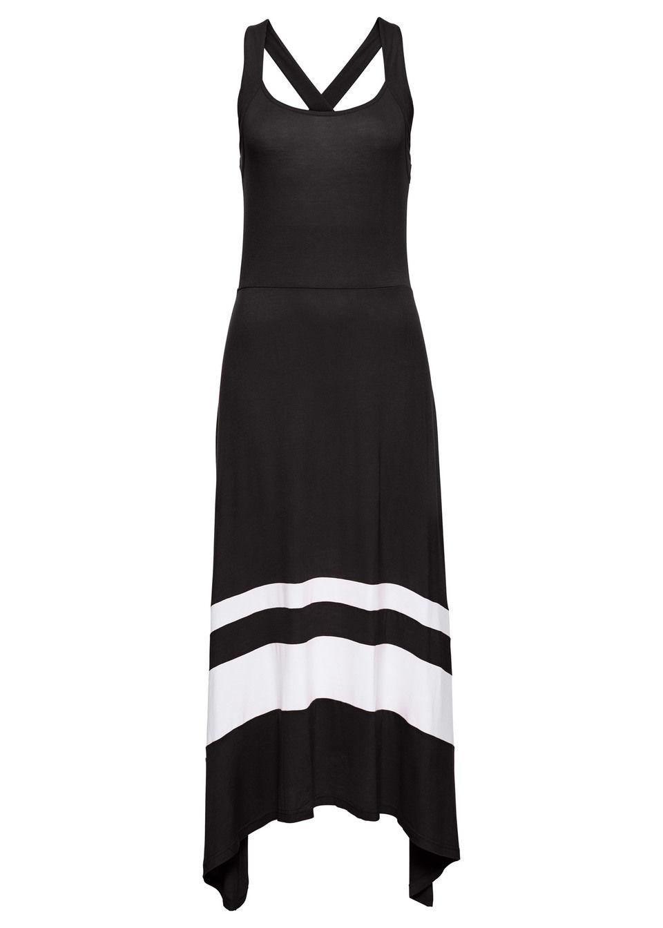Sukienka letnia bonprix czarno-biały