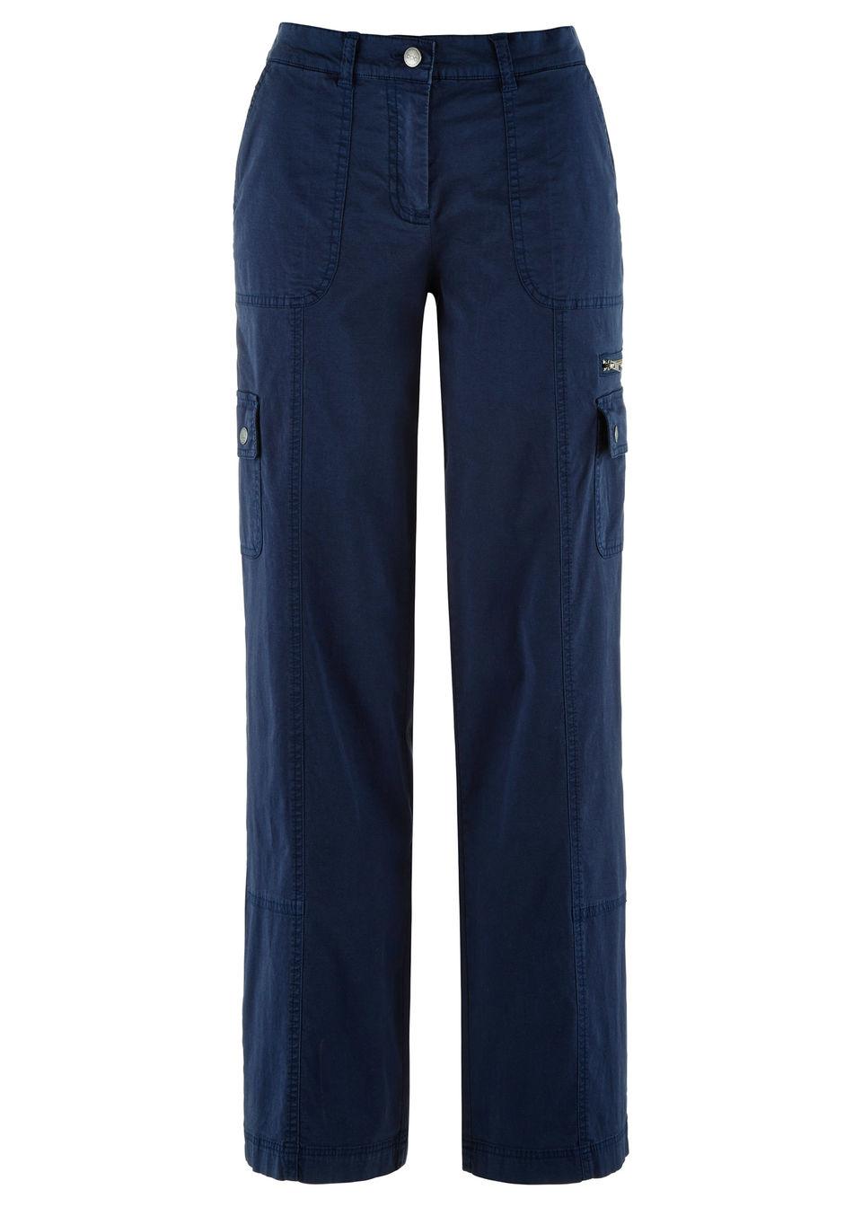 Pantaloni Papertouch cu croi larg bonprix