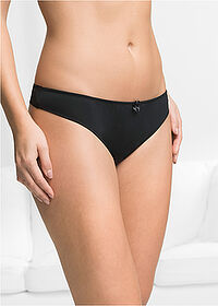 Microtouch tanga  (4 db) fekete bpc bonprix collection 1