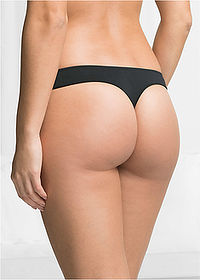 Microtouch tanga  (4 db) fekete bpc bonprix collection 2