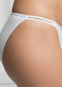 Chilot Tanga (6buc/pac) negru/alb/gri bpc bonprix collection 3