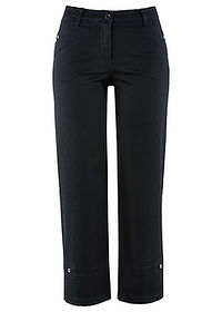 Pantaloni 7/8 cu stretch negru bpc bonprix collection 0