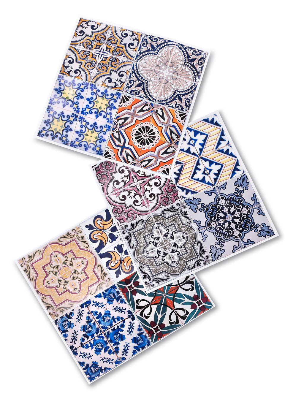 Наклейки в стиле плиток «Марокко» (12 шт.)