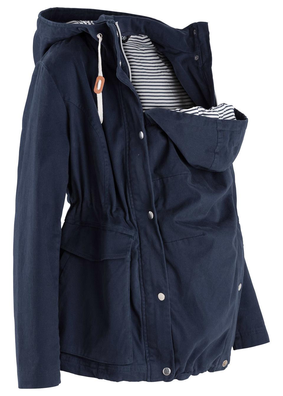 Купить Куртка для беременных со вкладкой для малыша, bonprix, темно-синий