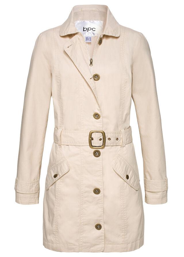 Trenčkot kabát štrkovo béžová Moderný • 34.99 € • bonprix ad8f8c3c5de