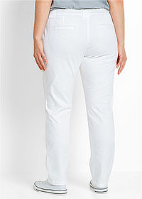 Pantaloni chino stretch alb bpc bonprix collection 2