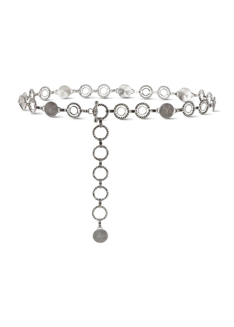 Pasek łańcuszkowy bonprix srebrny
