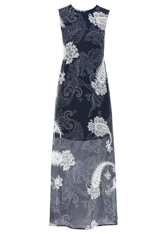 bd104e6345 Letnia sukienka szyfonowa • ciemnoniebieski