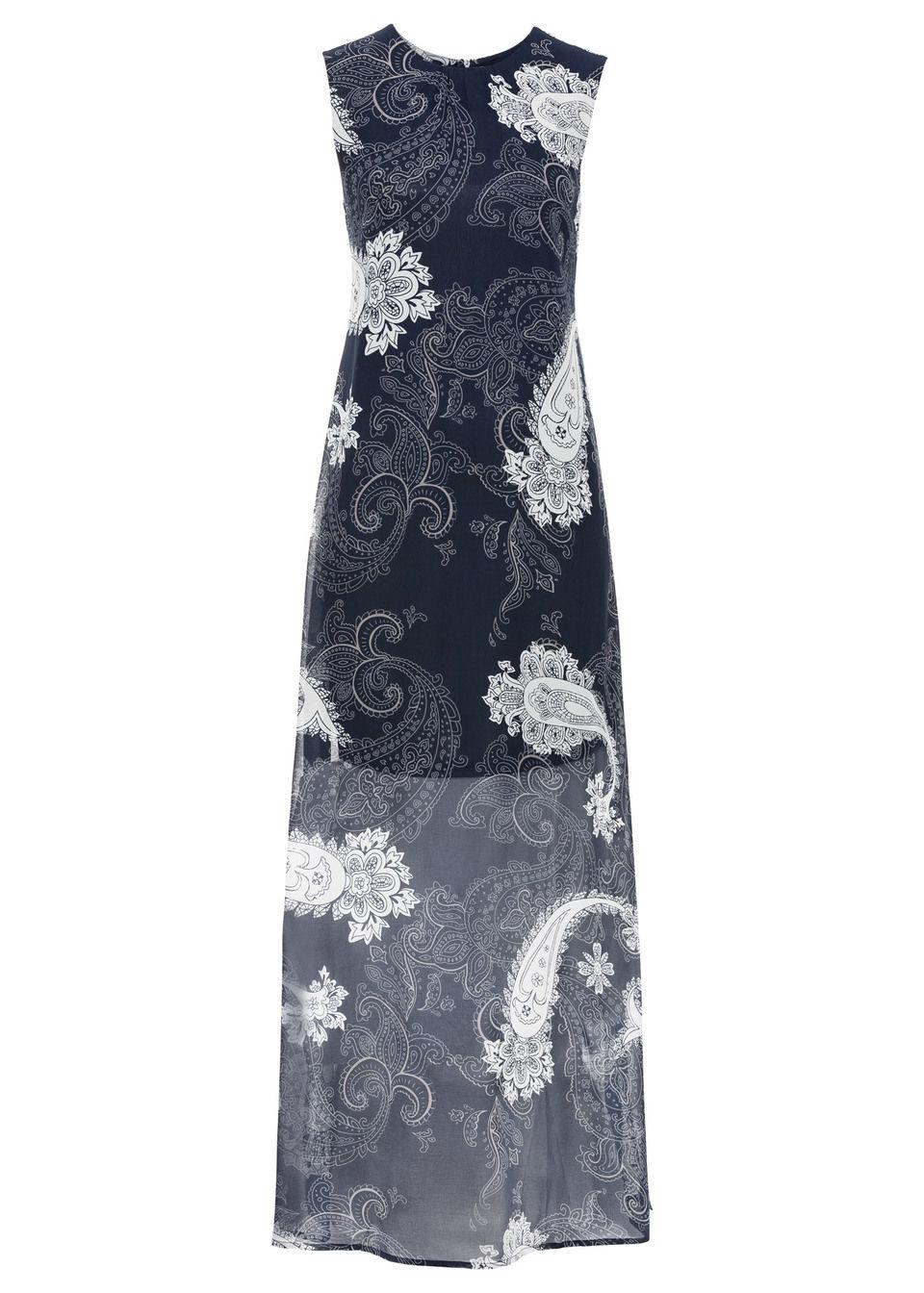 Купить Платье из шифона, bonprix, темно-синий с узором «пейсли»