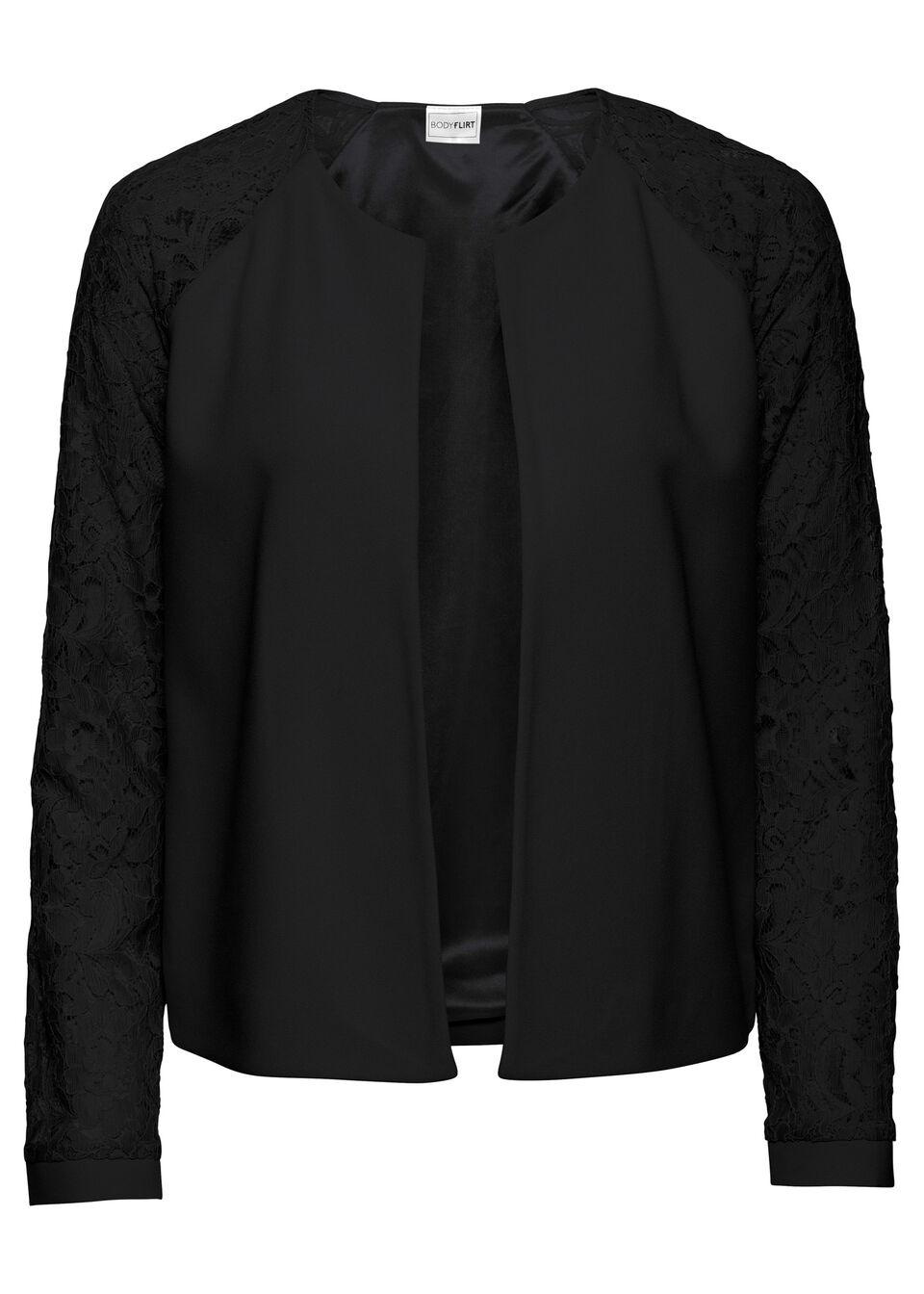 Jachetă cu mâneci din dantelă bonprix