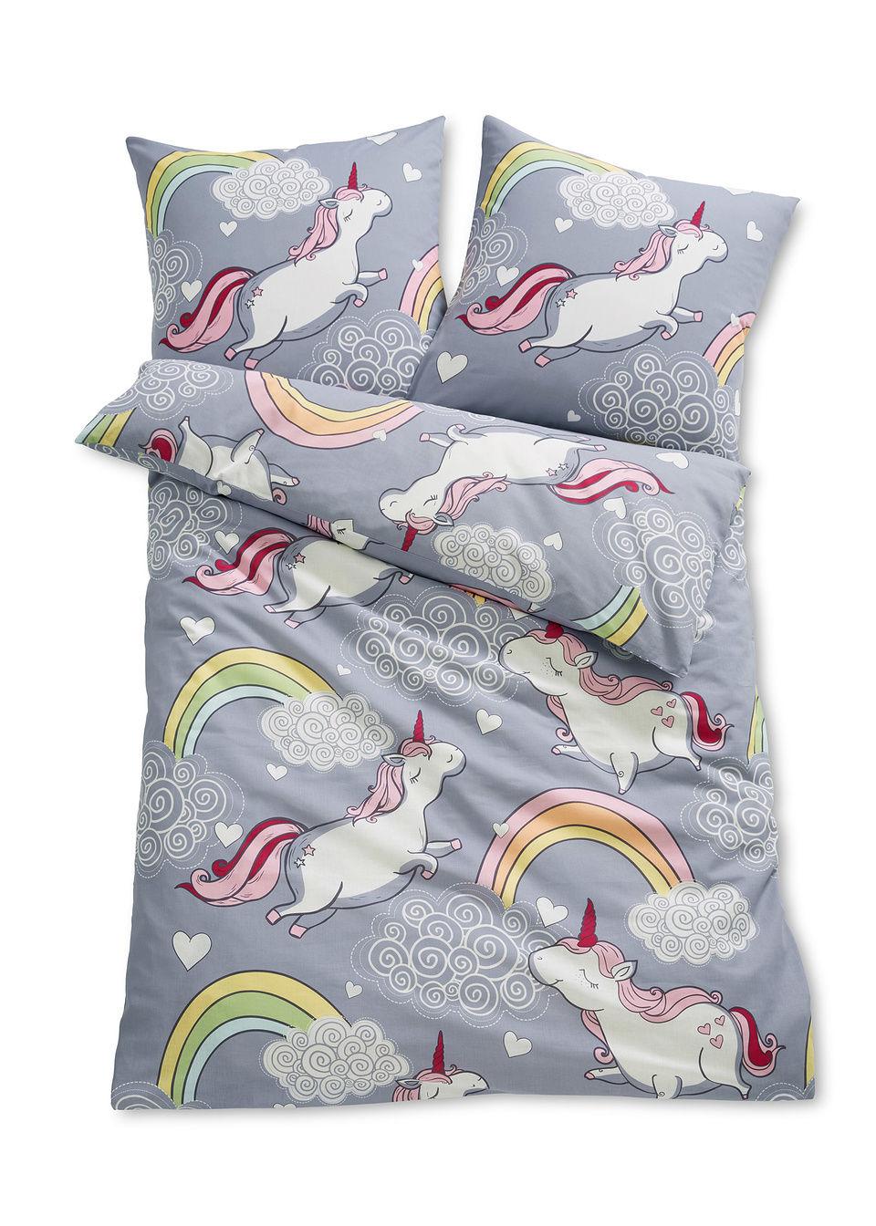 """tekstylia do sypialni pościel """"jednorożec"""" bonprix kolorowy - bonprix"""